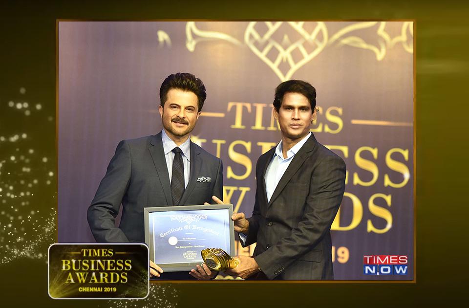 Best entrepreneur- Real Estate 2019 award